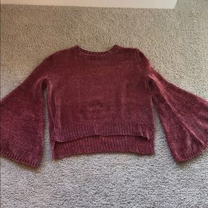 Pinkish comfy bell sleeve sweater! Super cozy!